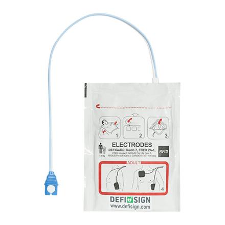 ELECTRODE ADULTE DEFIBRILLATEUR DEFISIGN