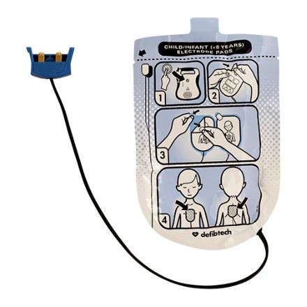 ELECTRODES PEDIATRIQUES DEFIBRILLATEUR DEFIBTECH LIFELINE