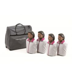 MANNEQUIN SECOURISME PACK 4 LAERDAL LITTLE ANNE QCPR NOIRE