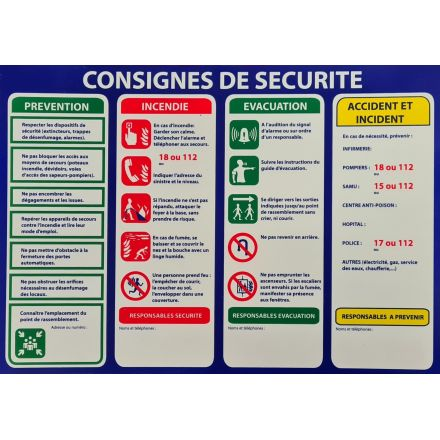 CONSIGNE SECURITE A4