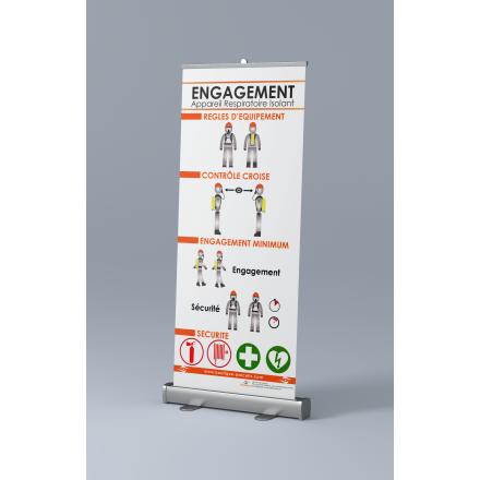 Roll-up Appareil Respiratoire Isolant (ARI) - Engagement