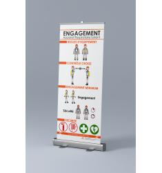 Roll-up Appareil Respiratoire Isolant (ARI) regles d'engagement