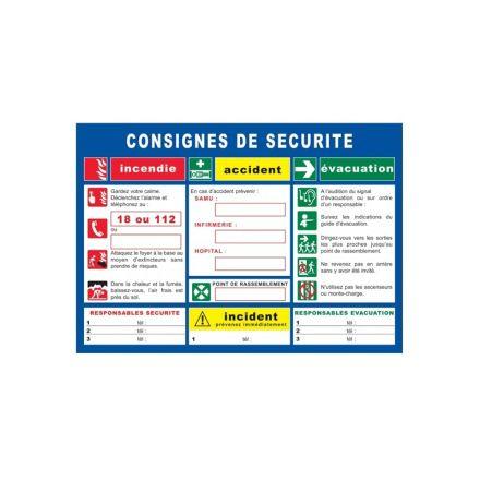 CONSIGNE SECURITE FORMAT A3