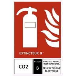 SIGNALETIQUE EXTINCTEUR CO2 125x190