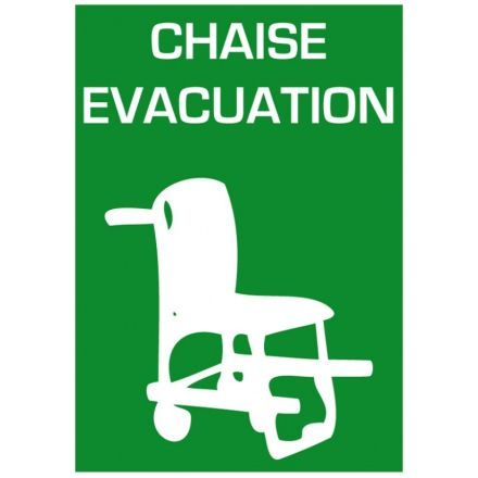 SIGNALETIQUE CHAISE EVACUATION A4 210x297