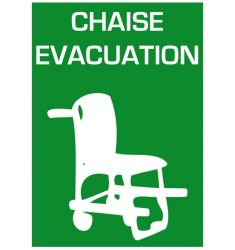 SIGNALETIQUE CHAISE EVACUATION A4