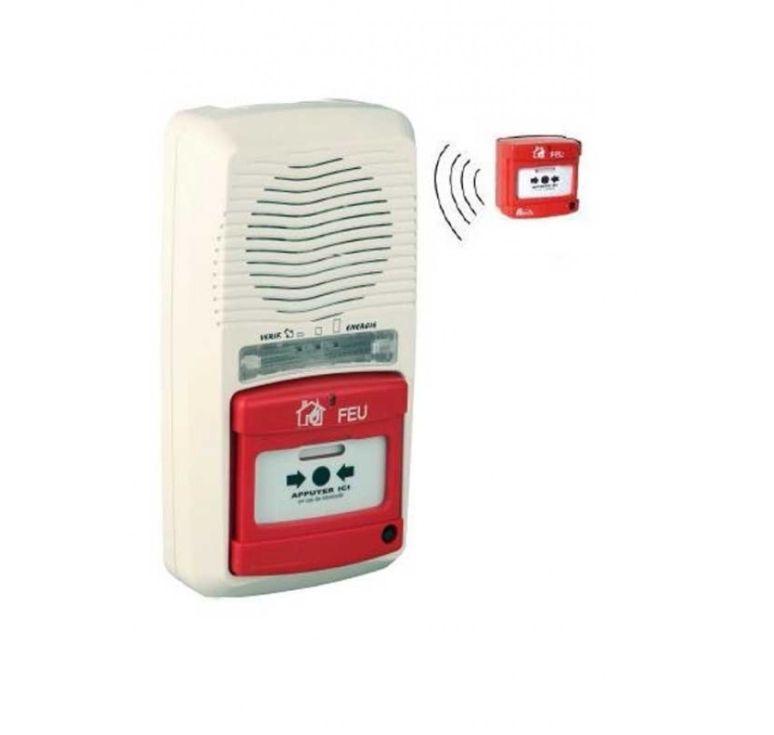 pack alarme incendie type 4 a pile radio et declencheur manuel radi. Black Bedroom Furniture Sets. Home Design Ideas