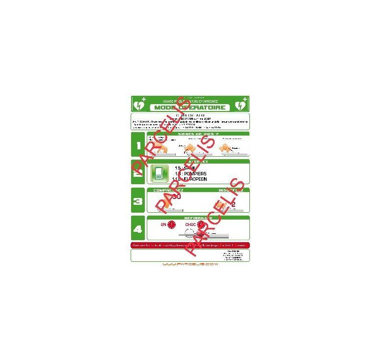 Affichage defibrillateur format a3 cadre alu - Cadre format a3 ...