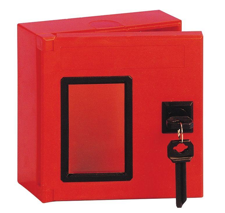 boite a cle carre en abs rouge divers. Black Bedroom Furniture Sets. Home Design Ideas