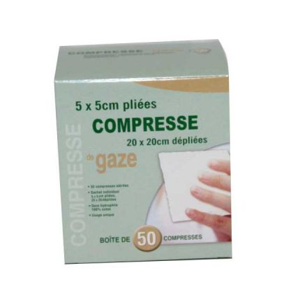 COMPRESSES GAZ TISSEES STERILES 20/20 PAR 50