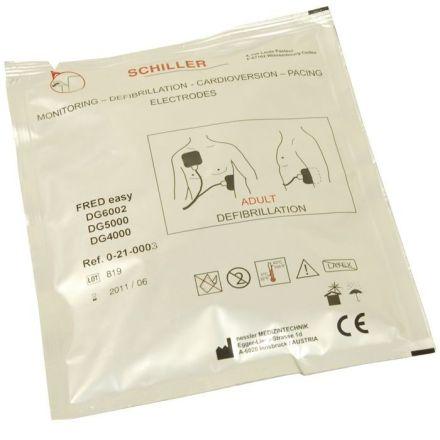 SCHILLER FRED Easy Defibrillateur Electrodes Pour Adultes
